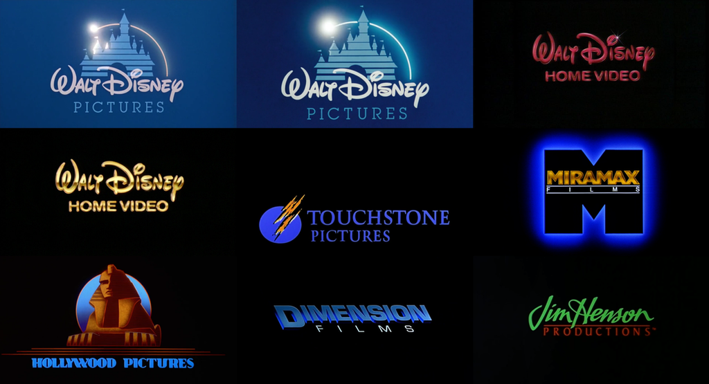 disney movie and video logos 1990s by lukesamsthesecond