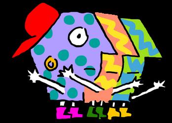 PBS Kids Digital Art - P-Pals (1993) by lukesamsthesecond