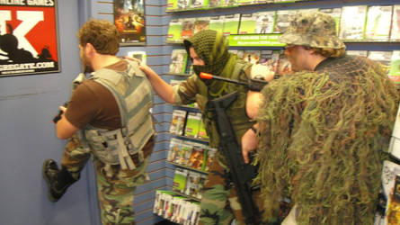 me and friends bsing at gamestop