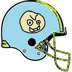 Concrete Ethans Football Helmet 1990s - 2000s