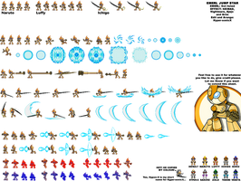 Emerl copy sprites by LucarioShirona