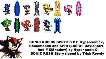 FC Sonic Riders and ShadowRush by Hyper-sonicX