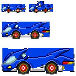Sonic SASASR Car Sprite by LucarioShirona