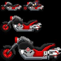 Shadow SASASR Motocycle Sprite by LucarioShirona