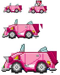 Amy SaSASR Car Sprite by LucarioShirona