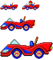 Mario SaSASR Car Sprite by LucarioShirona