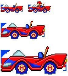 Mario SaSASR Car Sprite by LucarioShirona on DeviantArt