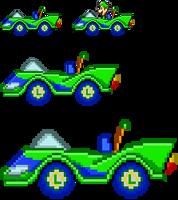 Luigi SaSASR Car Sprite by LucarioShirona