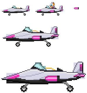 Rouge SaSASR Jet Sprite by LucarioShirona