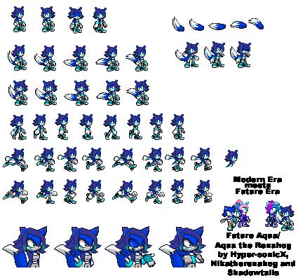 Sonic Fan chars :D Aqua_the_renahog_sprites_by_hyper_sonicx-d4af3a7