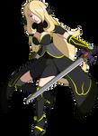 Pokemon Warriors - Cynthia with Garcion Sword