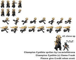 Champion Cynthia Sprites Ver. 2 by LucarioShirona