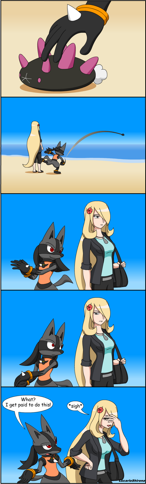 Pokeson Comic Chucking Pyukumuku By Lucarioshirona On Deviantart