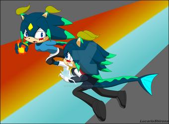 Robin vs Allen .:Gift:. by LucarioShirona