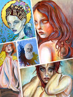 Half price sale of these select paintings by skytteole