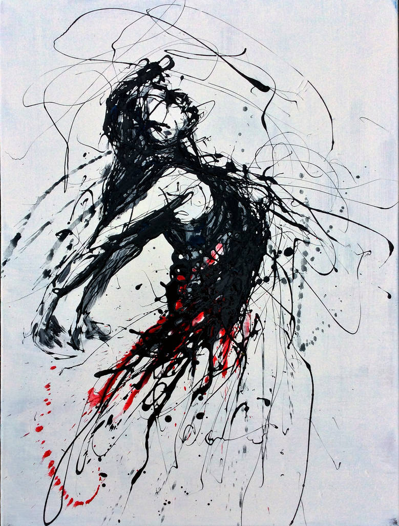 Study of a dancing woman No 1 by skytteole