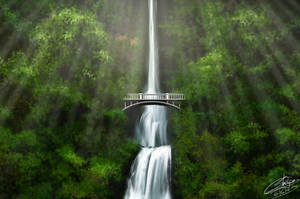 Multnomah Falls,USA by Khushiart