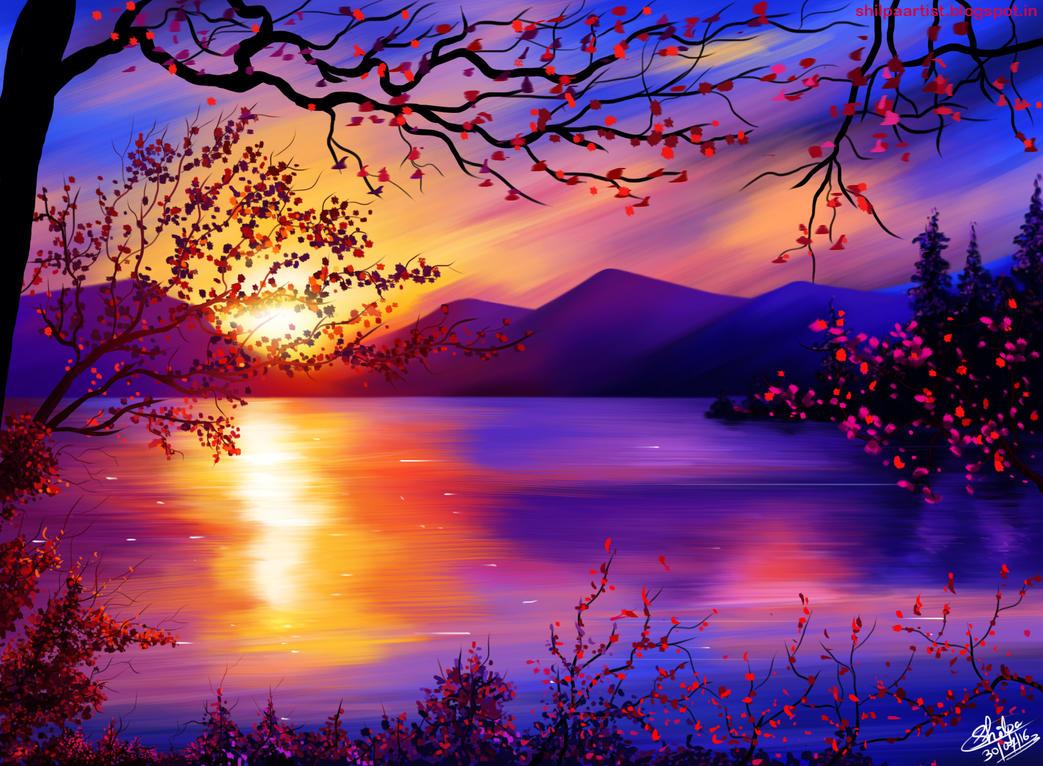 Landscape illustration by Khushiart