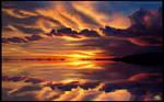 salar de uyuni bolivia sunset