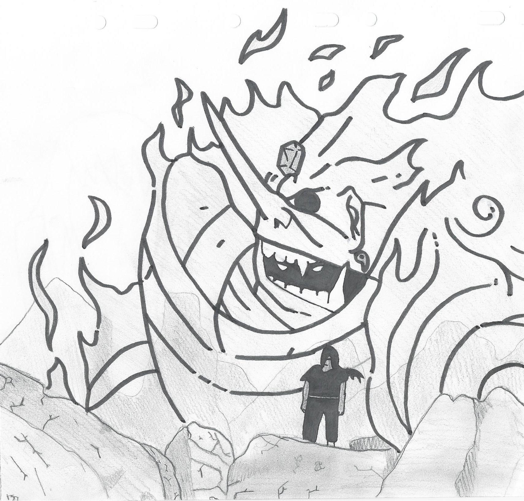 Susanoo Itachi Drawing