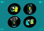Alien Spaceship Wayfinding Icons