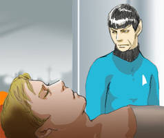 Spock's main worry by Emushi