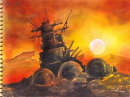 Sunset by Emushi