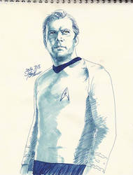 Captain KIRK doodle by Emushi