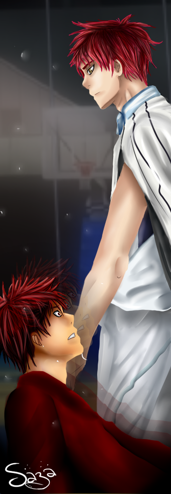 Kuroko no Basket ~ Akashi ''Know your place..''. by Sazawen