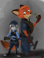 Zootopia Judy Hopps And Nick Wilde by SGTHappyy