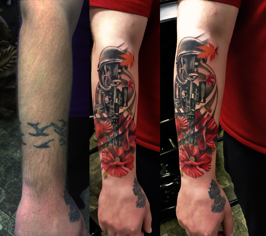 cover up forearm tattoo by marinaalex on deviantart