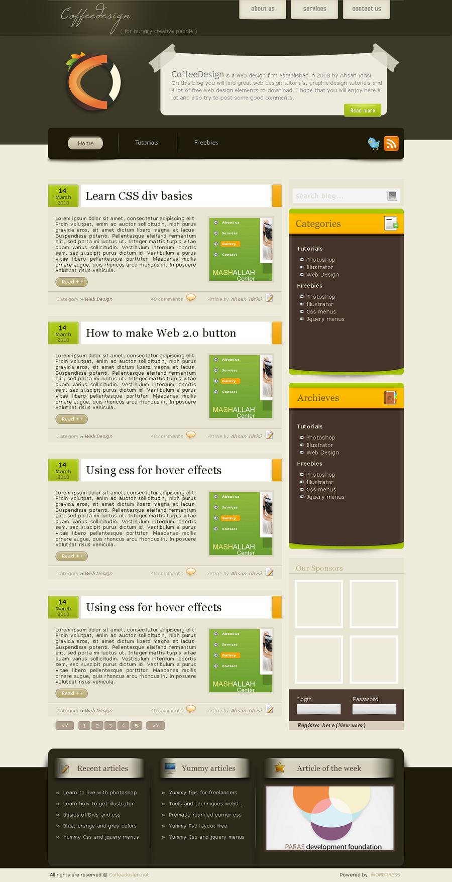 Theme WordPress Organic Natural