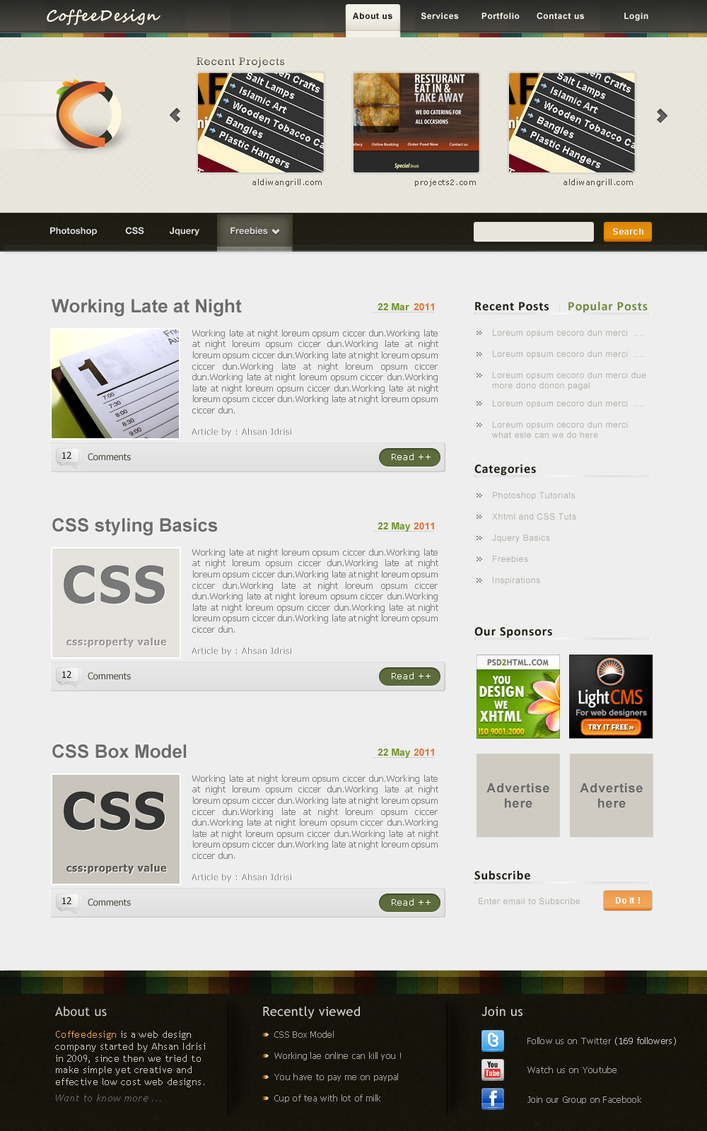 CoffeeDesign Blog v2 by ahsanpervaiz
