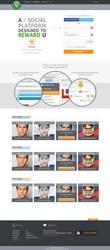 Qme Signup main page design by ahsanpervaiz