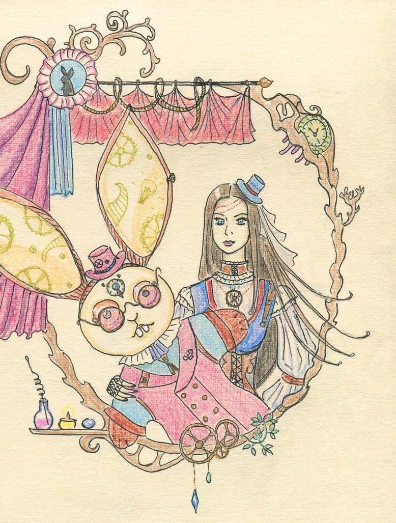 Girl and Bunny of Phantasium by Volatilite