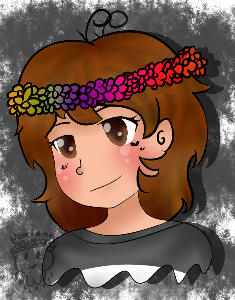 Me in a flower crown by MarianaFalletti