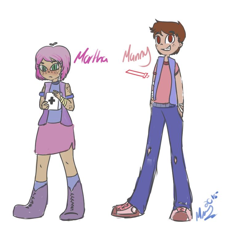 Martha And Manny by MarianaSpaghetti
