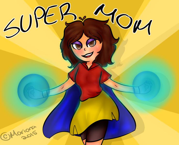 Super Mom re-draw by MarianaSpaghetti