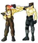 Naked Snake vs. Solid Snake