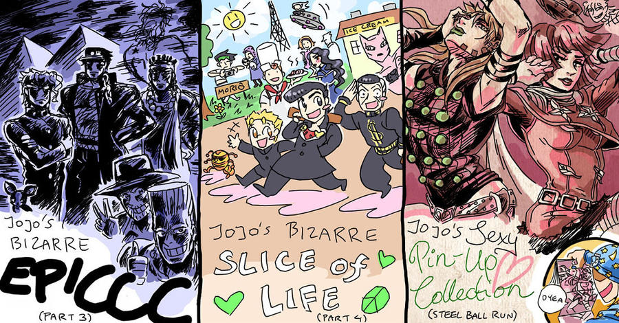 JJBA 3,4,7 By Rijinks On DeviantArt