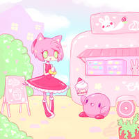 :Pink Friends: by LobotomyBunny