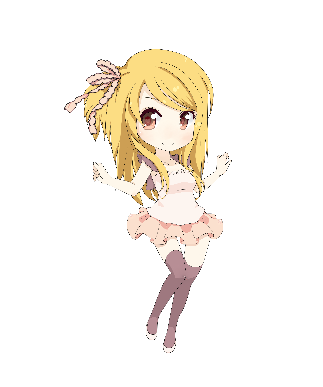 fairy tail lucy heartfilia chibi by tsukiko12099 on