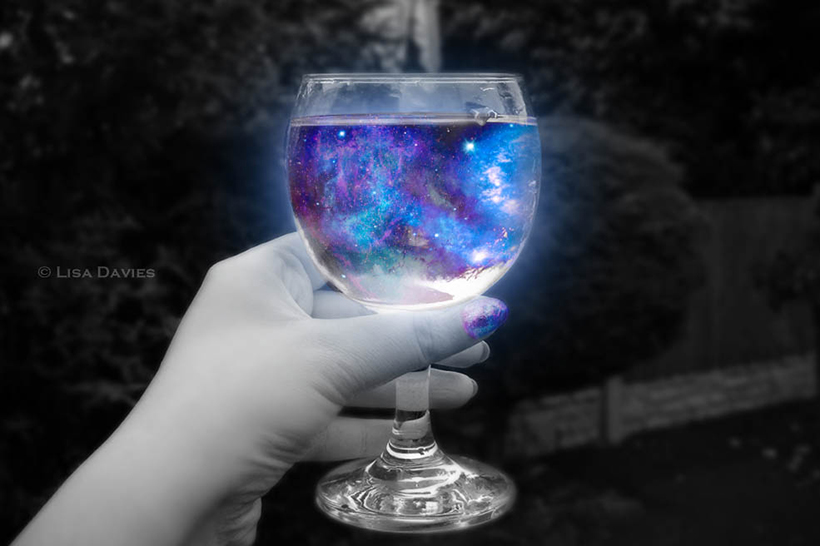 Galaxy in a glass by ziggy90lisa