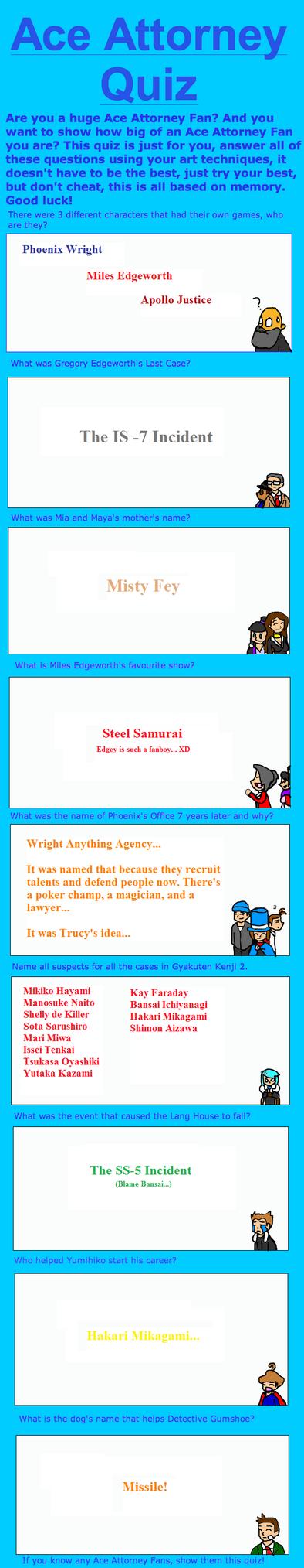 Ace Attorney Quiz by AmeftoDrawer