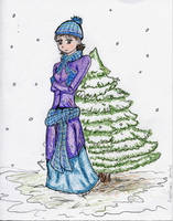 Winter Girl-Colored- by xTacitusx