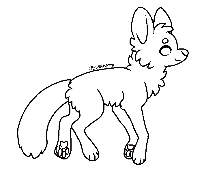 Free lineart 1 - Canine by griffsnuff on DeviantArt