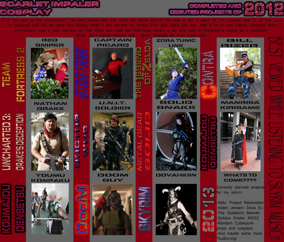 2012 Cosplay Round Up!! by Scarlet-Impaler