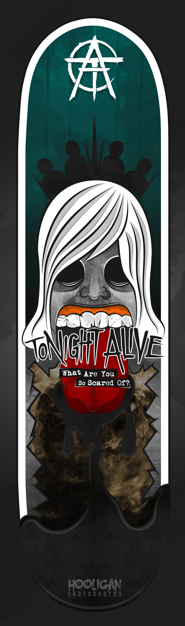 Tonight Alive Sk8Board by B-boyAlfelor