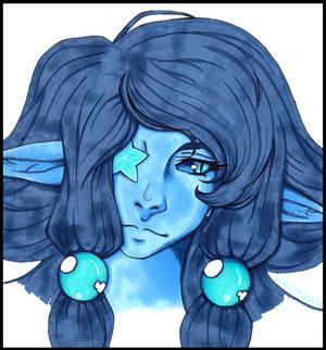 fancy blue portrait