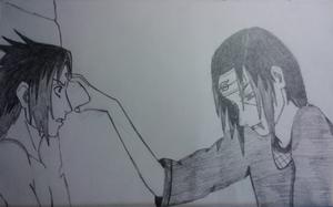 Itachi and Sasuke by swimli888